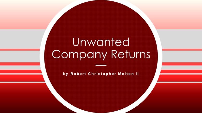 Unwanted Company Returns