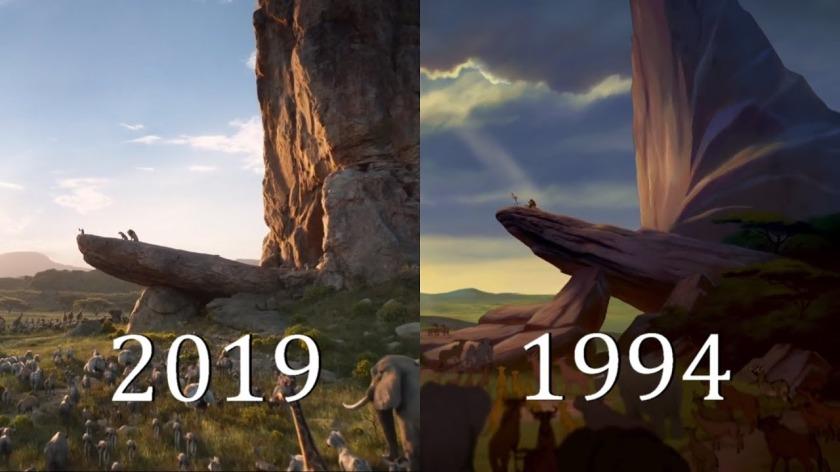 2019 vs 1994 lion king