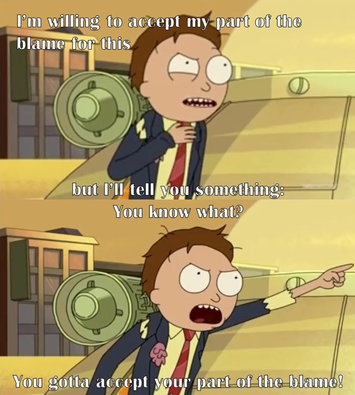 Rick and Morty Blame